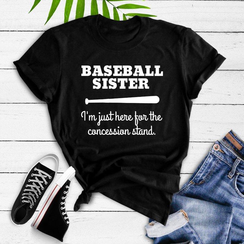 Baseball Sister Tee $22