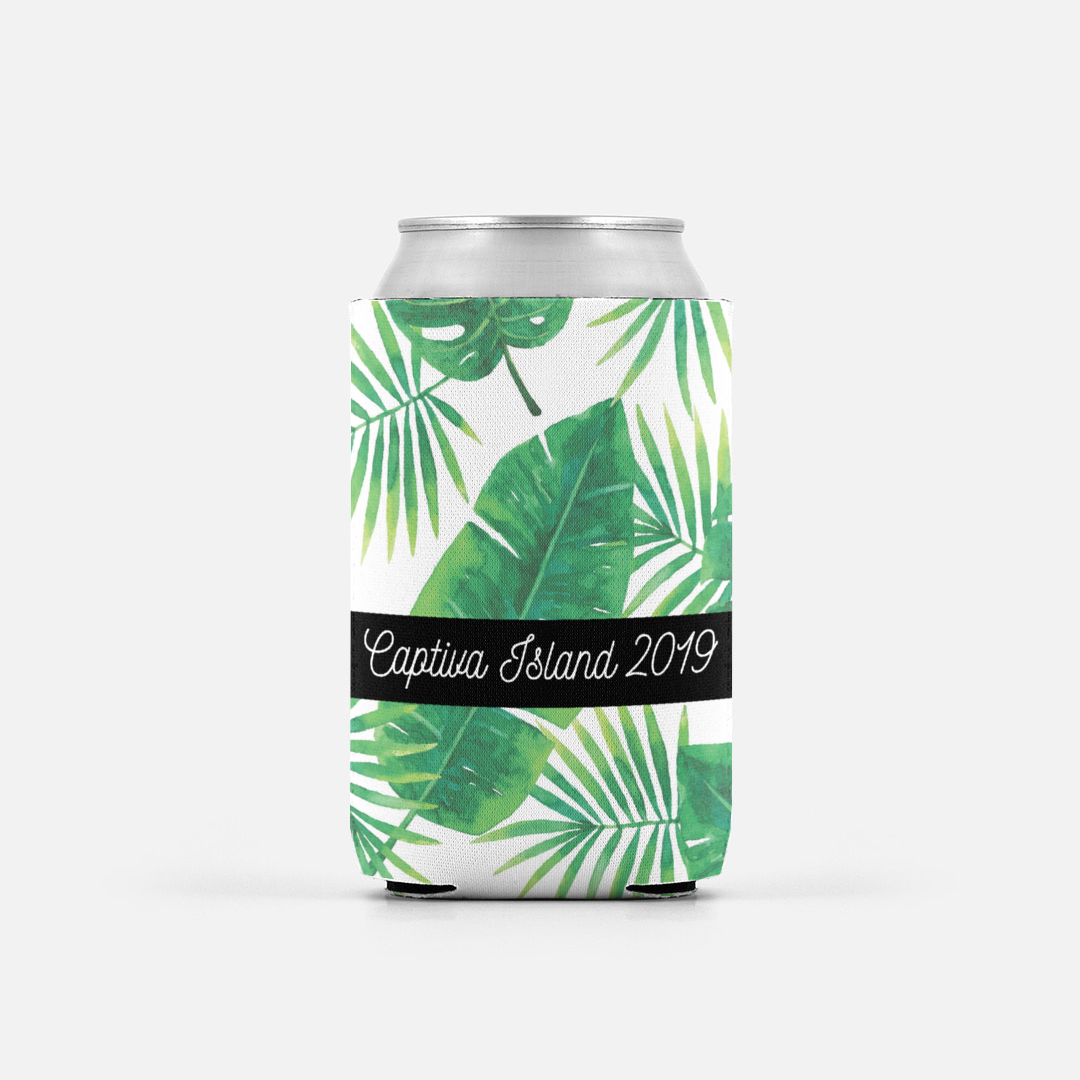 Personalized Palm Can Cooler $7