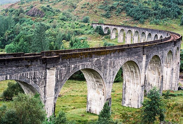 16 out of 21 arches #glenfinnanviaduct #architecture #travel #adventure #Scotland #nature #film #filmphotography