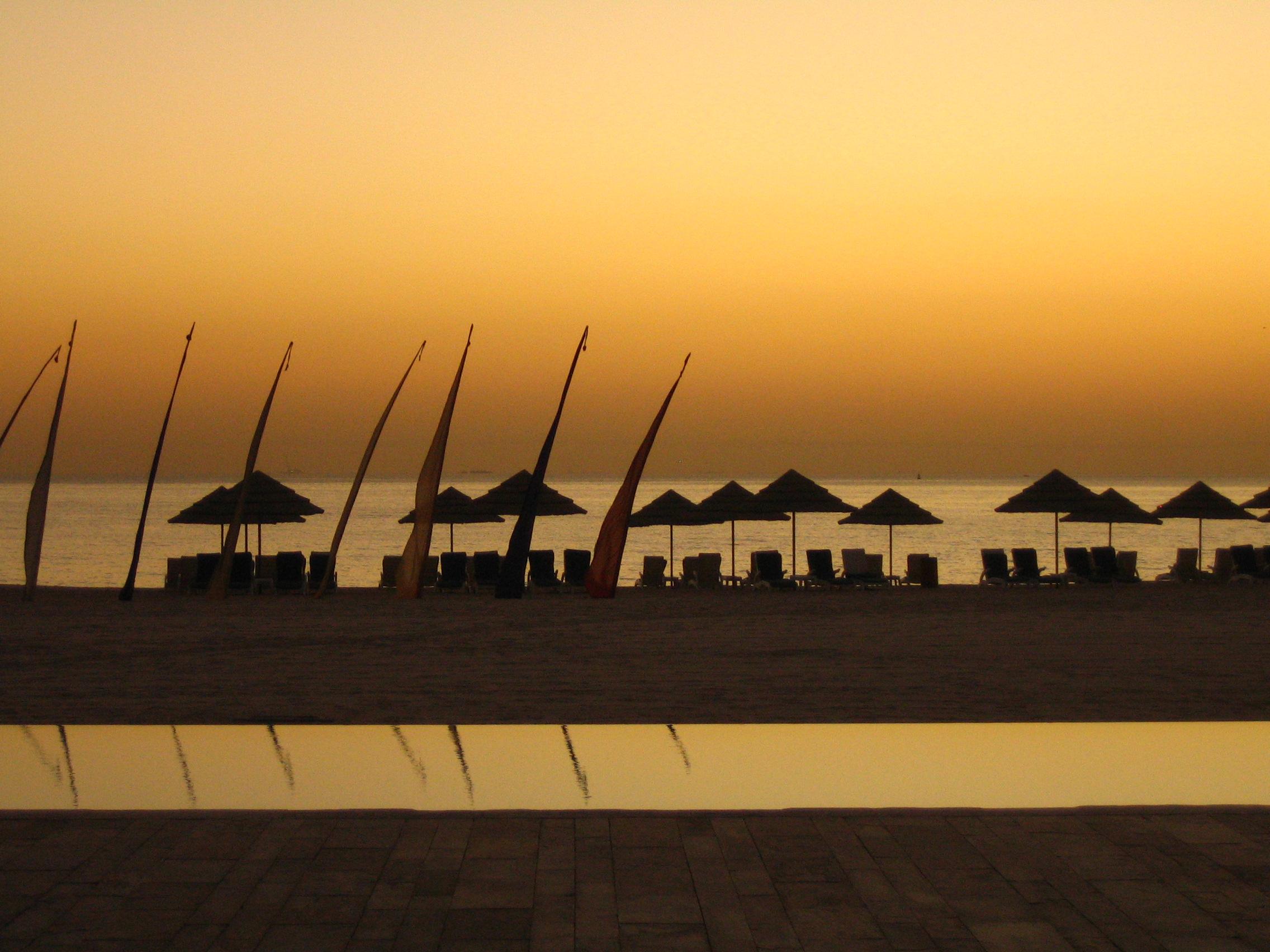 Sunrise at the Hilton Kuwait Resort