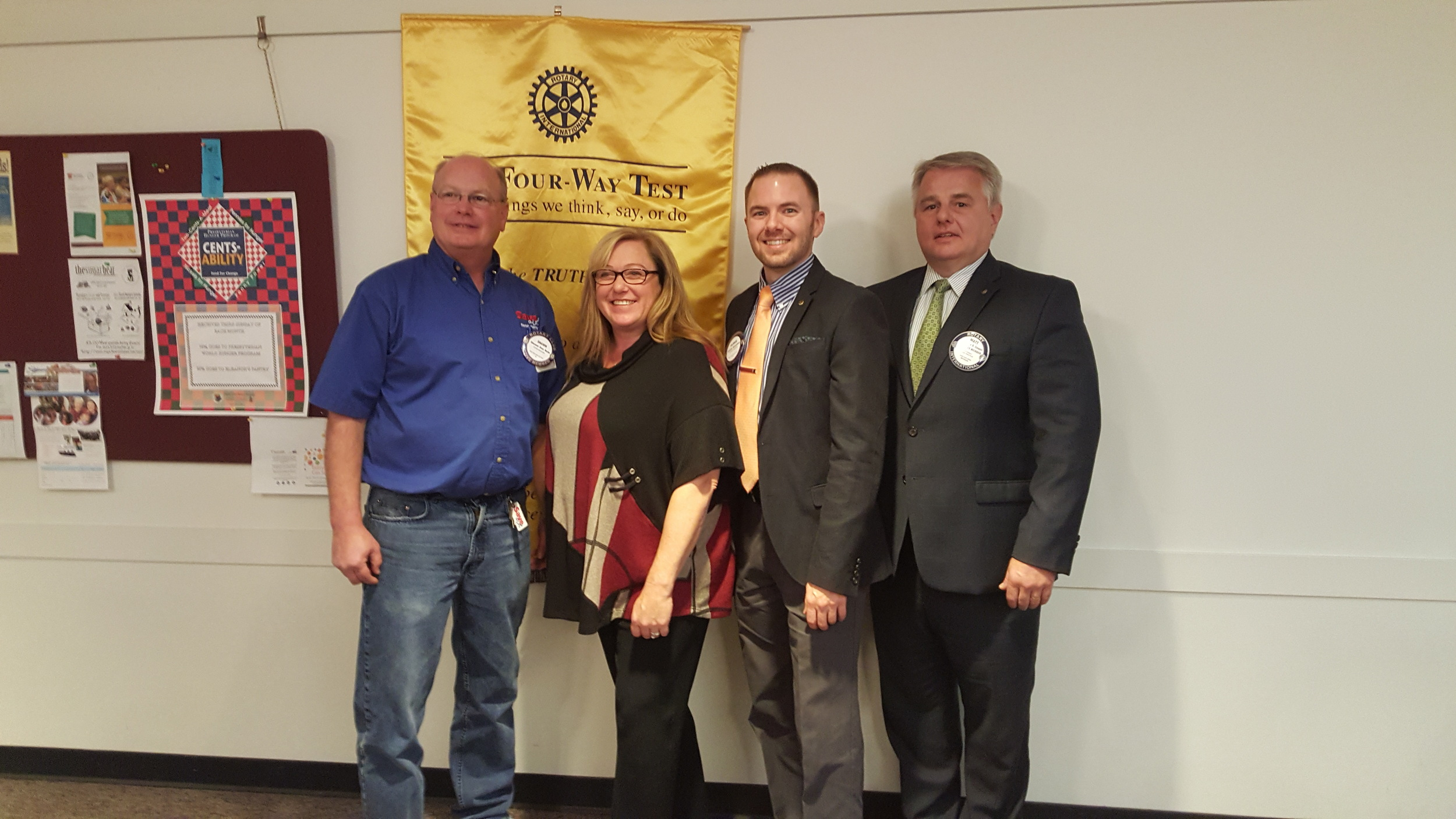 My induction into the Paw Paw Rotary Club