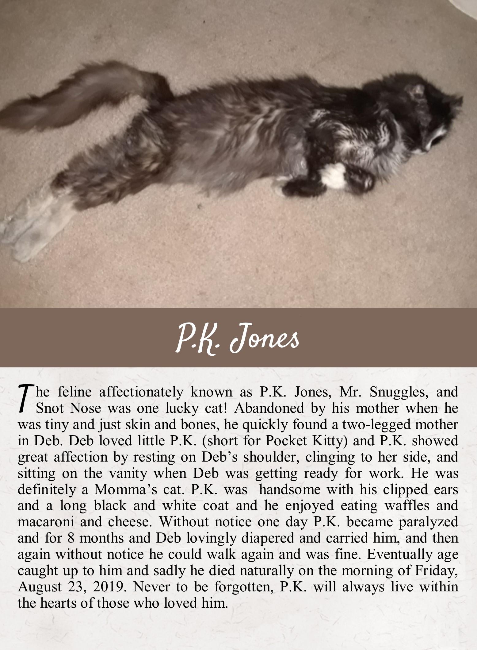 P.K. Jones' Life Tail