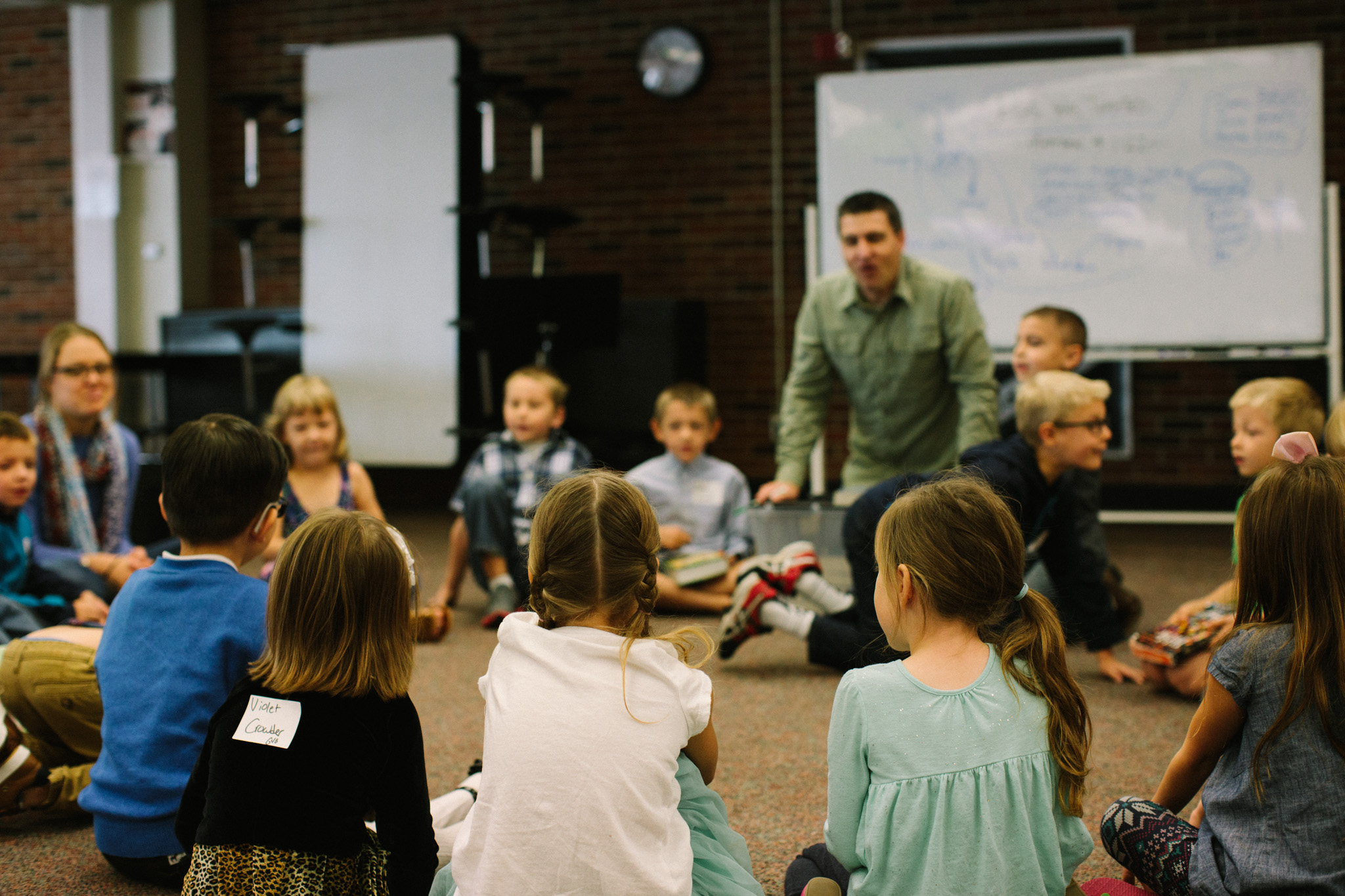 Children ages 0-9 are welcome in our Coram Deo Kids program on Sunday mornings. Children experience a fun learning environment that includes singing, crafts, and an engaging Bible story taught by a trained storyteller.
