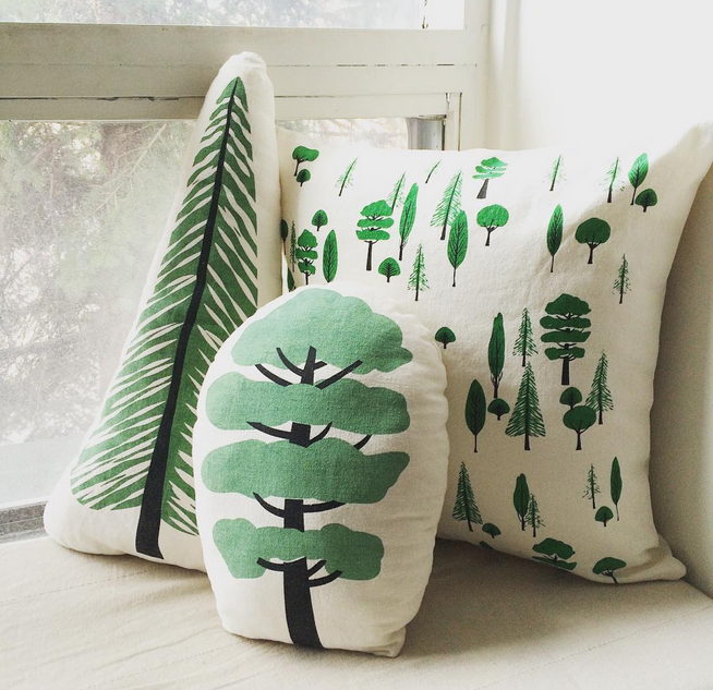 Throw pillows by sun+stars co