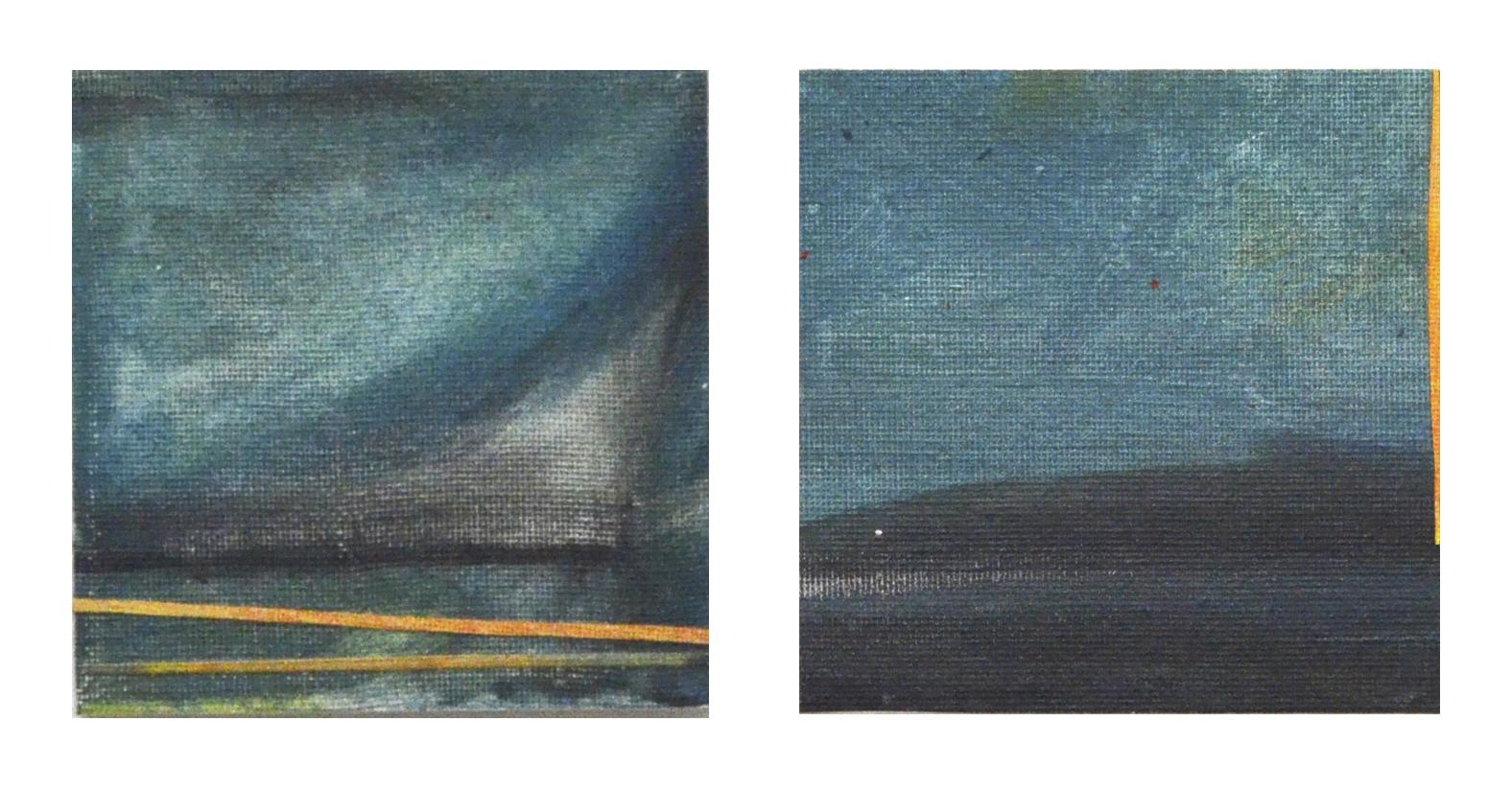 Blues I & Blues IV 4 x 4 x 1 inches Medium:Acrylic On Canvas on board