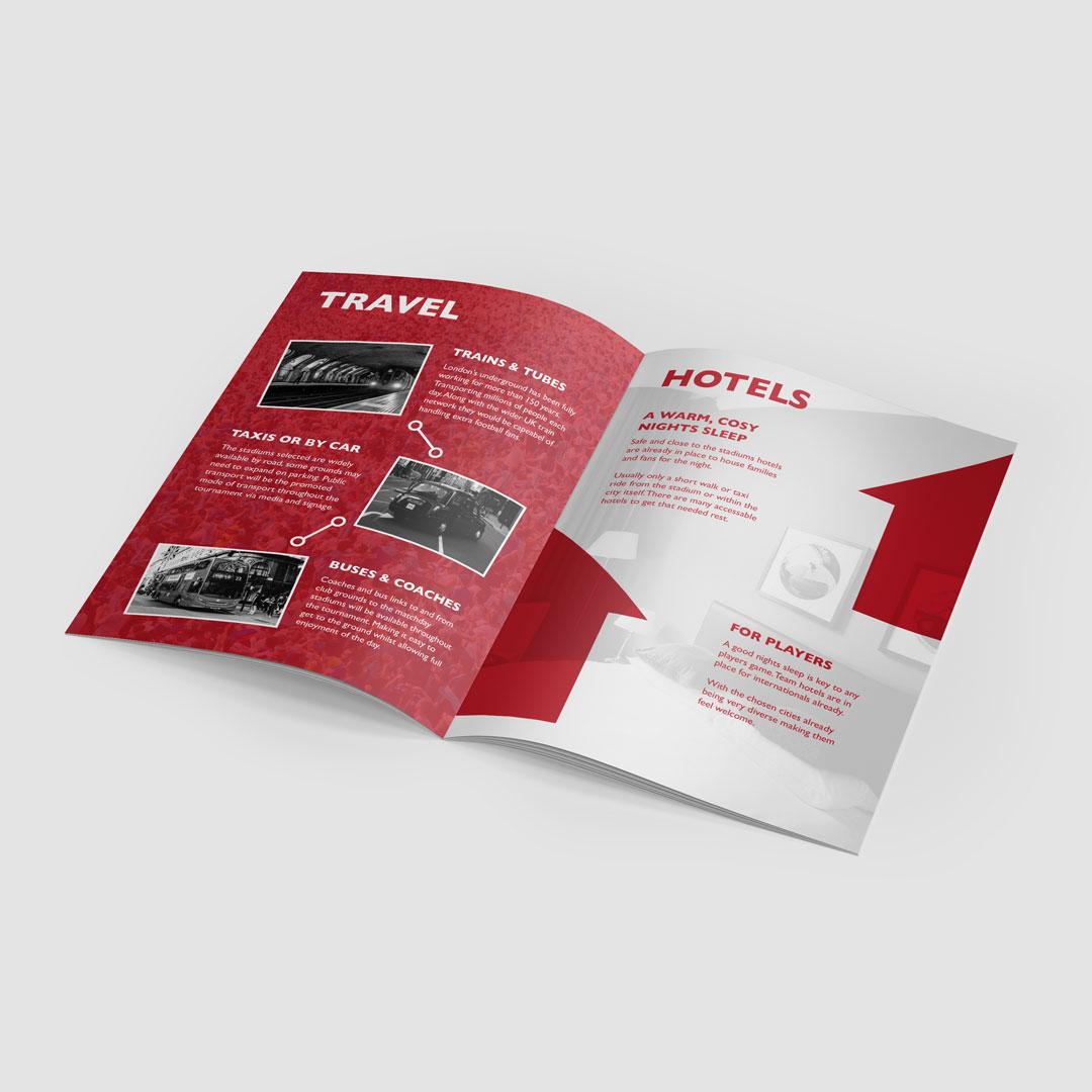 England World Cup 2030 brochure