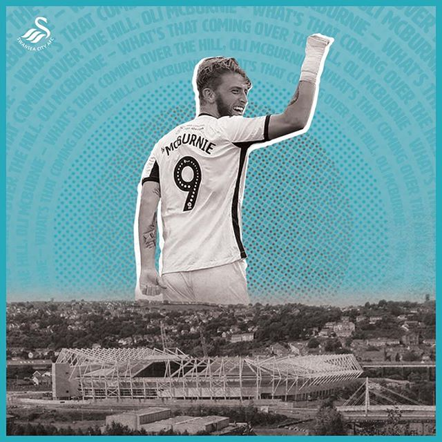 What's that coming over the hill, @oli_mcburnie!  #swansea #swanseacity #artoffootball #footballart #illustration #graphicdesign #illustrationdesign #adobeillustrator #illustrator #football #footballgraphicdesign #footygraphic #football #soccer #soccerplayer #illustration #soccerillustration #footballillustration #swanseacity #swans