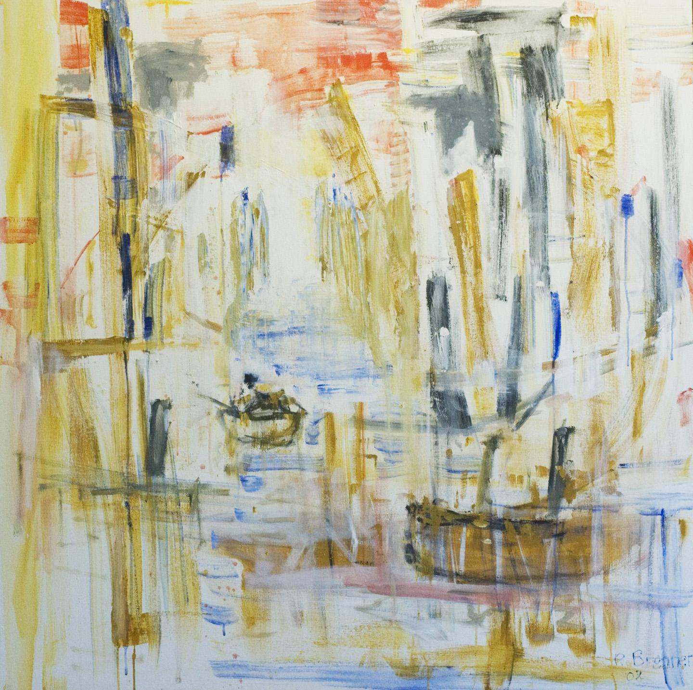 "City Dock (Passage) 2014 48"" x 48"" Acrylic on Canvas"