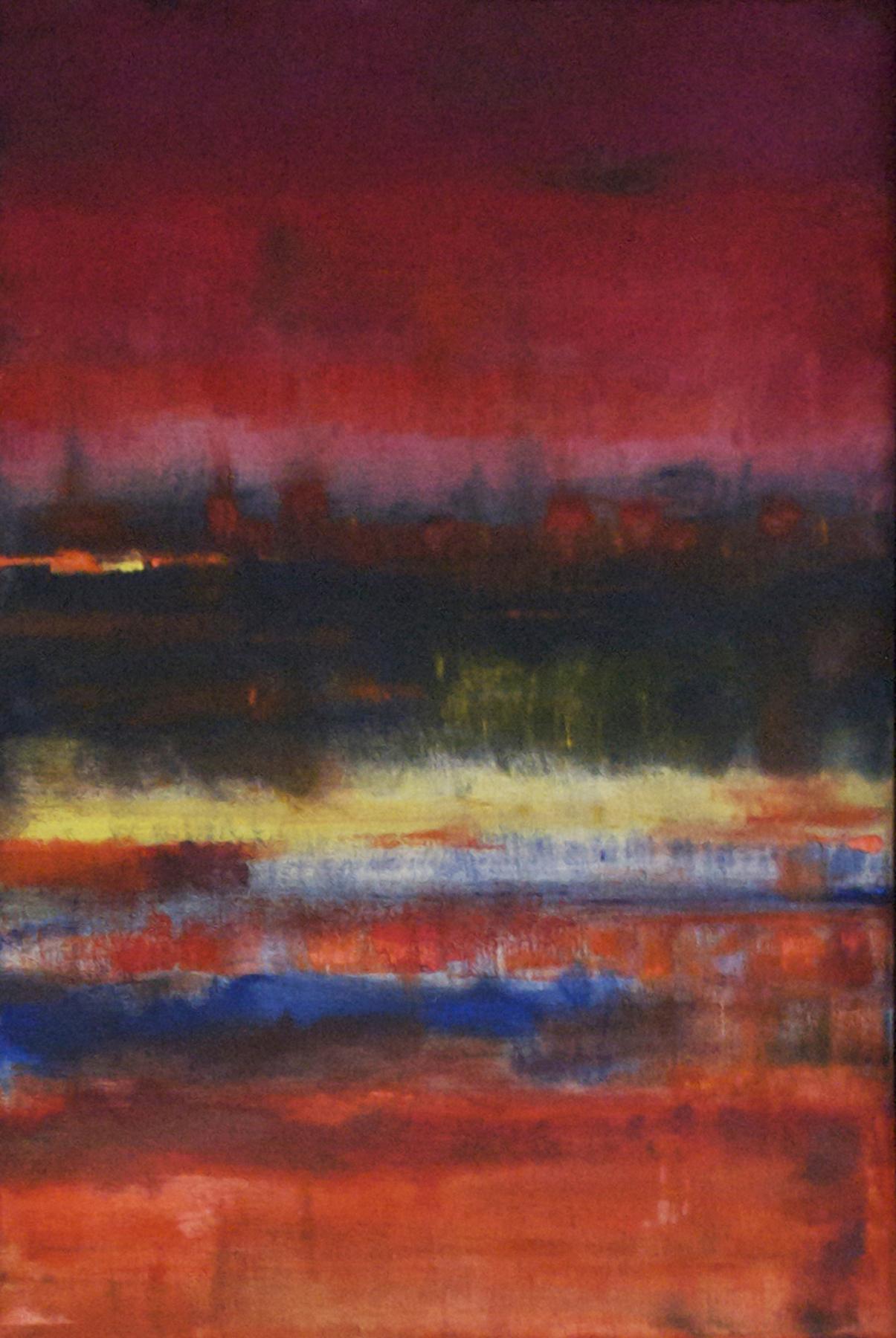 "Landscape at Dusk  2013 25.50"" x 18.50"" Oil on Canvas"