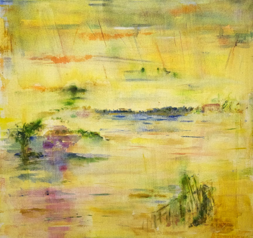 "It's Raining Light Out Here  2012 22"" x 22"" Oil on Canvas"