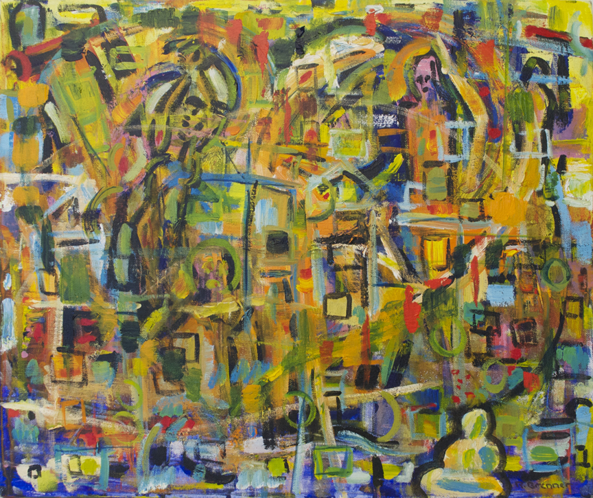 "Possibilities  2008 20"" x 24"" Acrylic on Canvas"