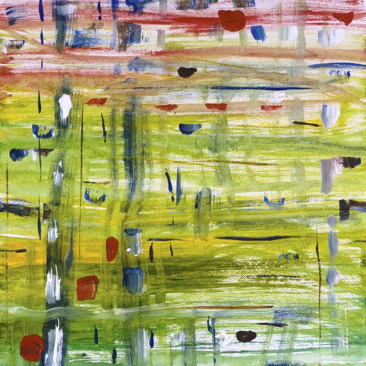 "Reflections  2008 12"" x 12"" Acrylic on Canvas"