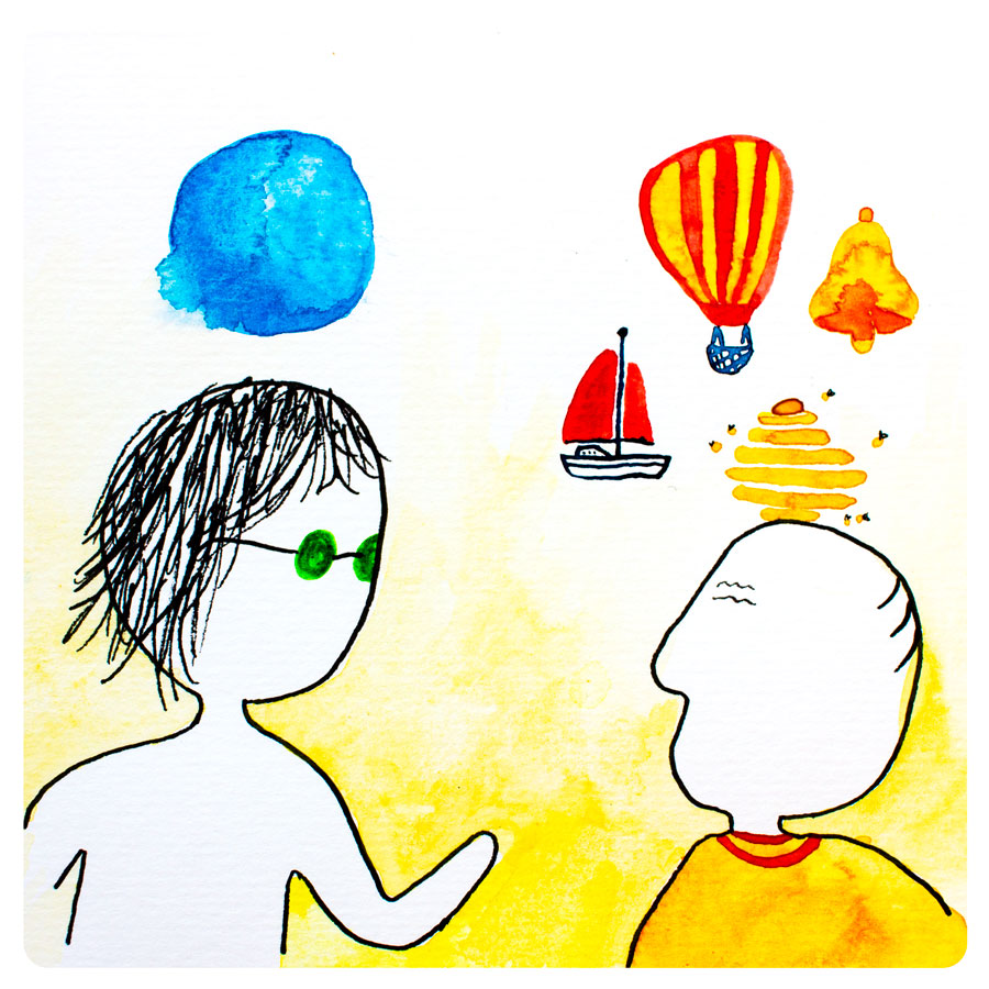 """- """"Excuse me, sir. I lost my home and I'm looking for a new bubble. Do you know where I can find one?"""" asked the girl.The old man laughed. """"A bubble? Why would you want to live in a bubble when you could live in a boat, a balloon, a bell, or a beehive? Bubbles are boring.""""The girl was flabbergasted. """"I've always lived in a bubble, I never thought about living anywhere else.""""""""There's a town on the other side of that mountain where you'll find all sorts of dwellings — you might be surprised what you can make into a home,"""" the old man replied with a twinkle in his eye."""