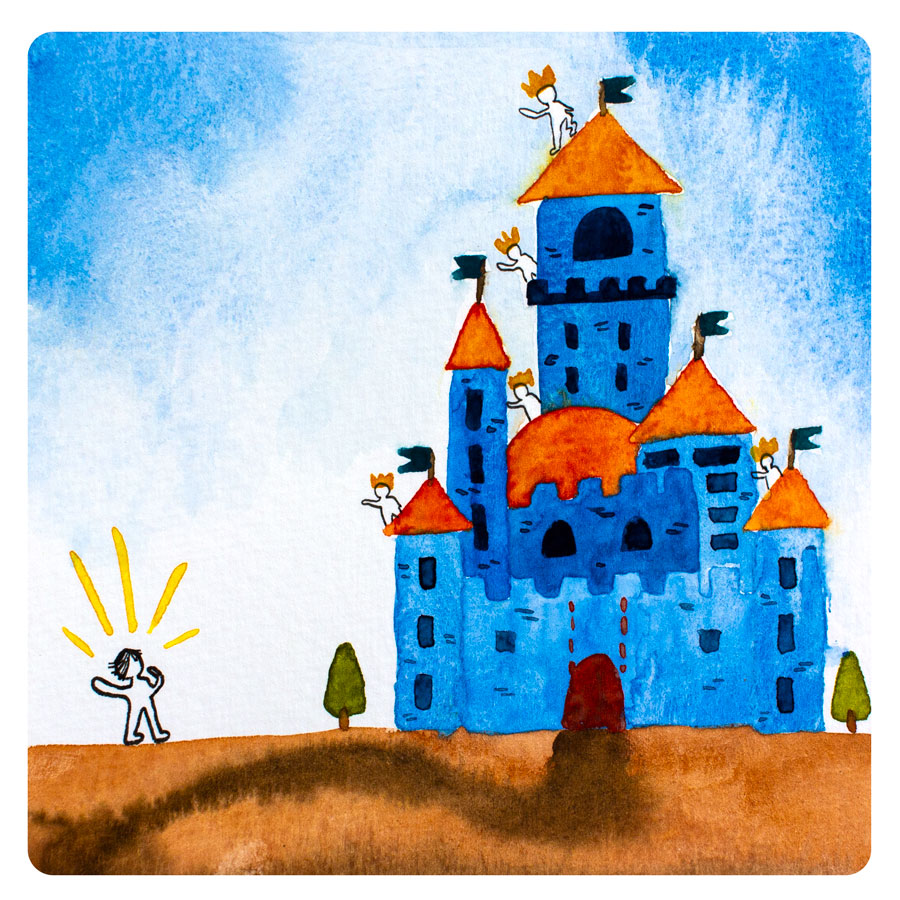 "- She was starting to feel hopeless when she stumbled upon a castle. ""Oh my gosh, how regal and epic! That looks like a place an adventurer might live. And it's got so much space, I bet the people who live there have a lot of fun running around together. But I really do want to be able to travel with my home. A castle would be fun to visit, but I don't think it's the right place for me to live."""