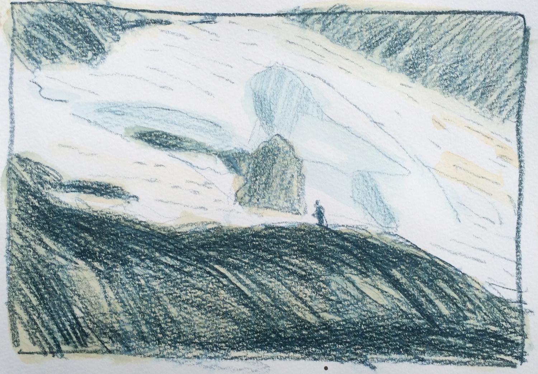 Palmer Glacier through the binoculars.