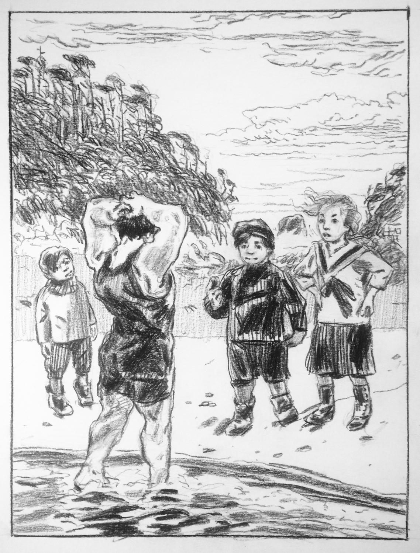 The kids greet Cavill