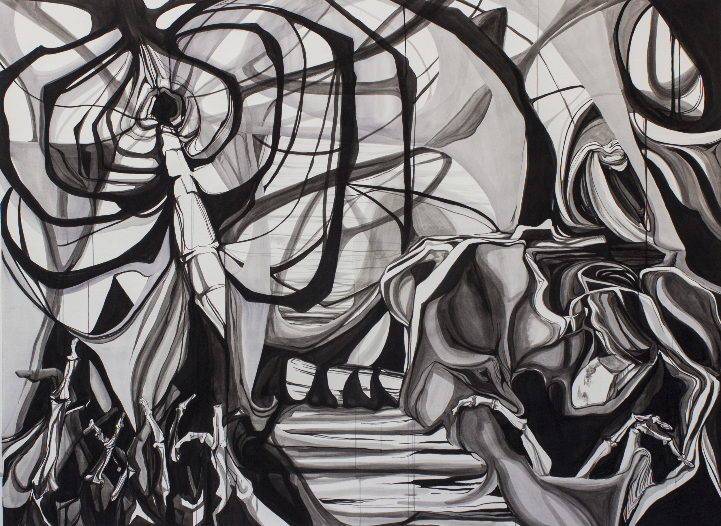 Dystopian Landscape (with Rib Cage)