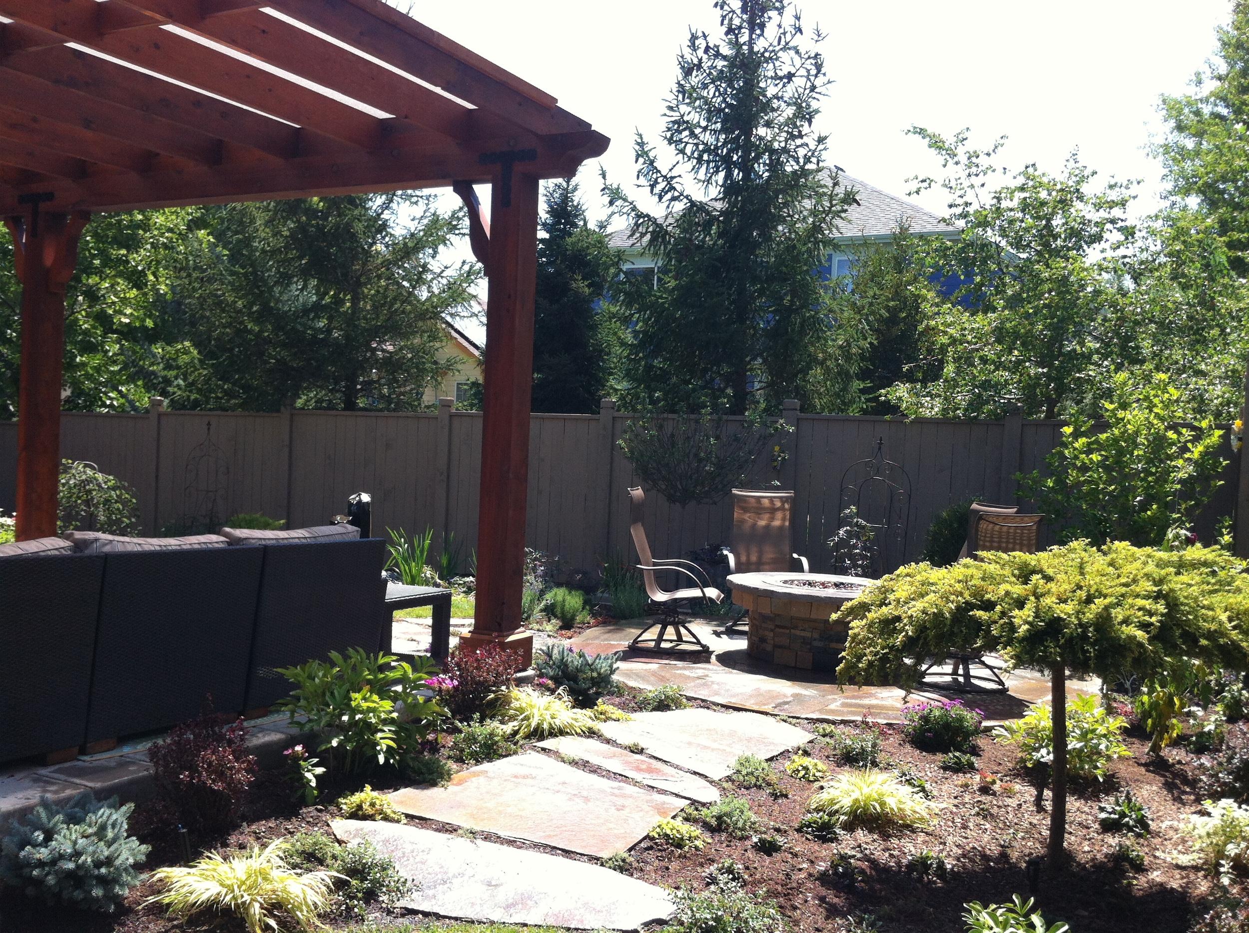 Weller Path and patio gardens.JPG