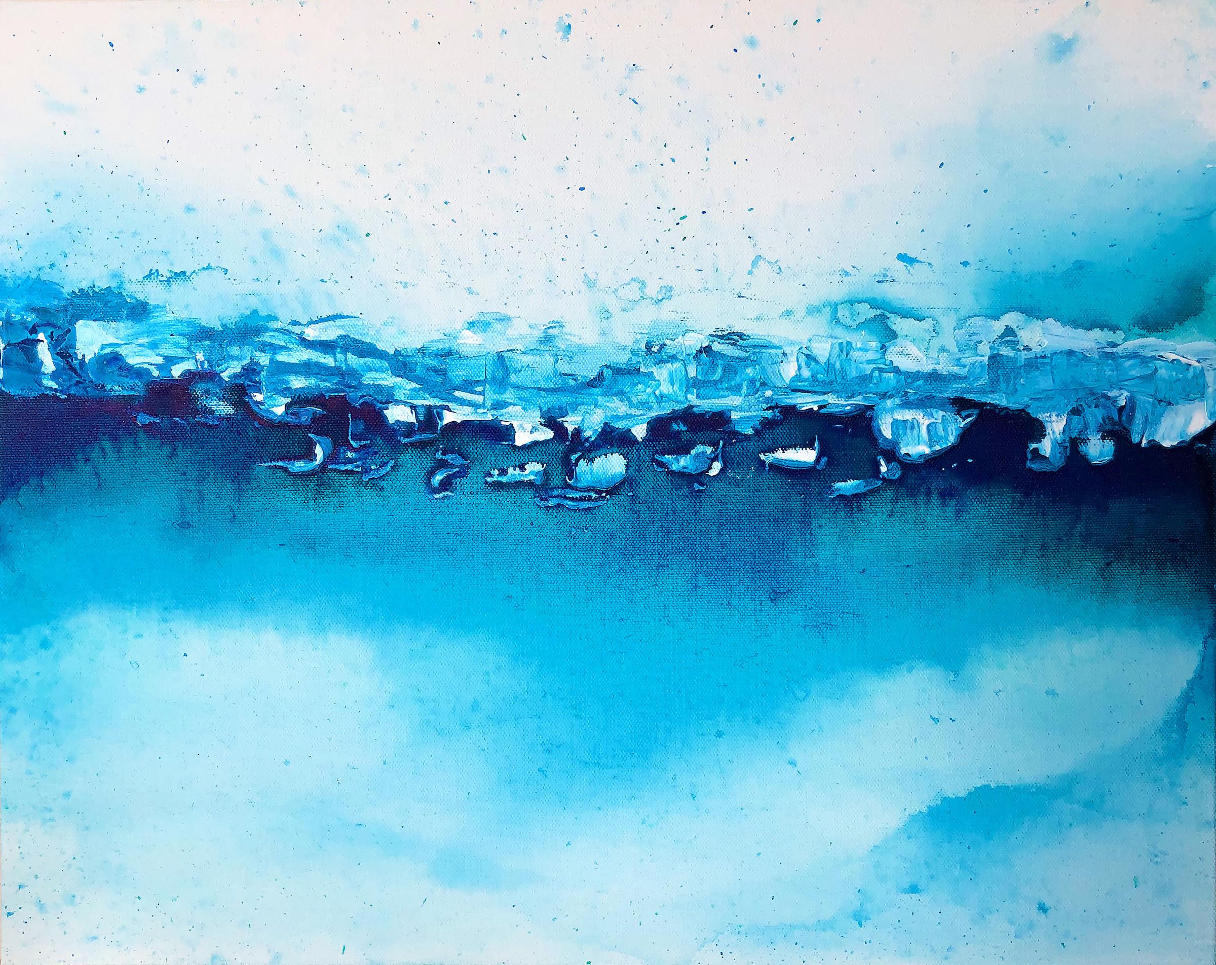 "My Love is an Ocean, 20"" x 24"" Acrylic on canvas, 2018    SOLD"