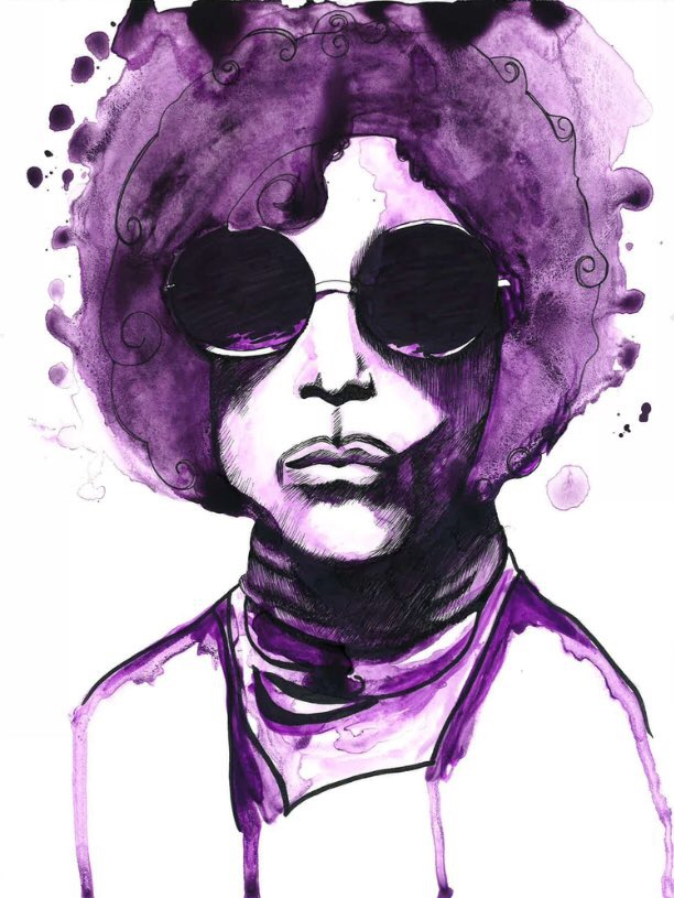 """Purple Prince,"" 2016 (sold) I created this painting the day Prince died as part of a 30-day art challenge."