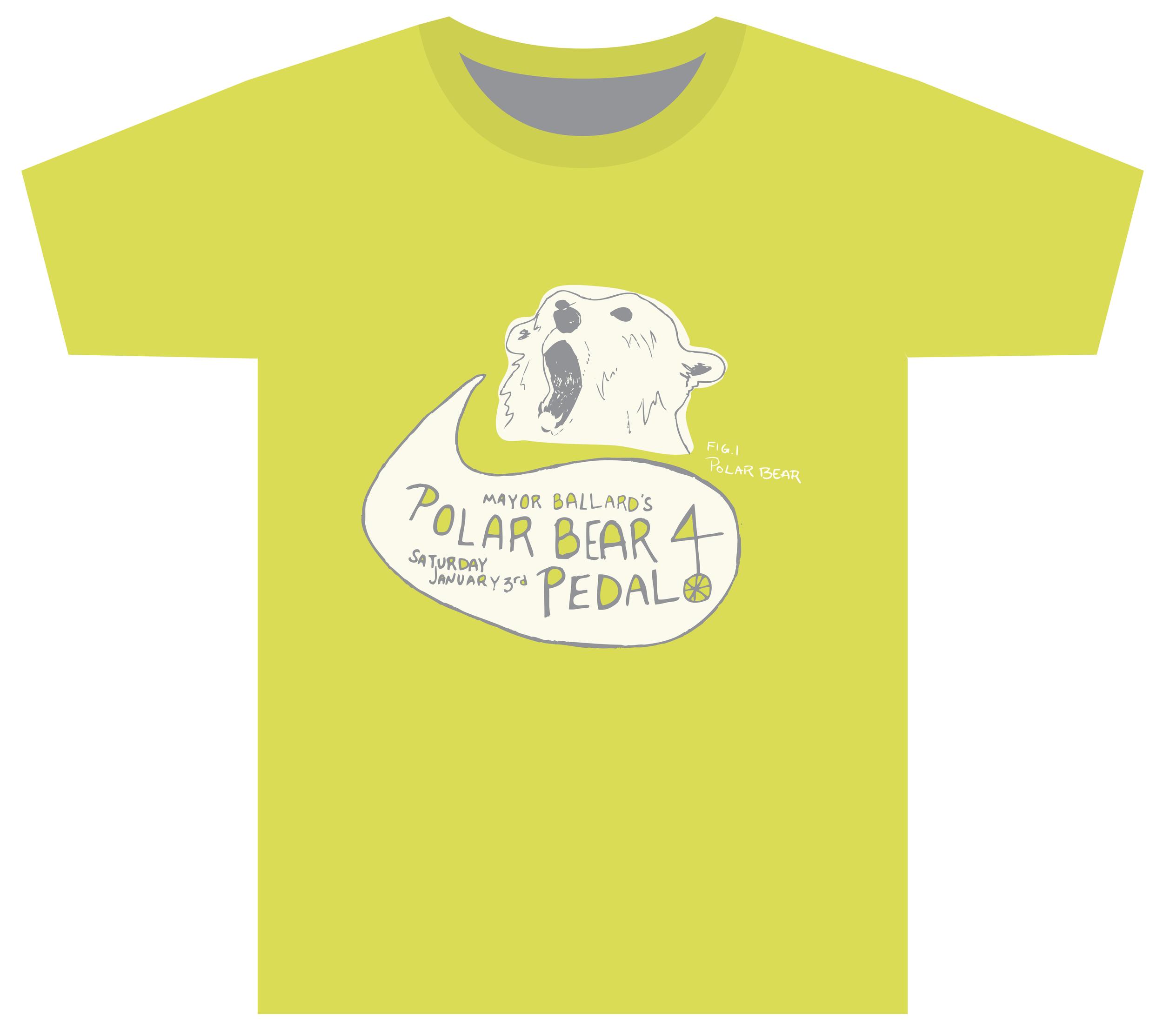 T-shirt design for Indianapolis's former Mayor Ballard's annual Polar Bear Pedal bike ride