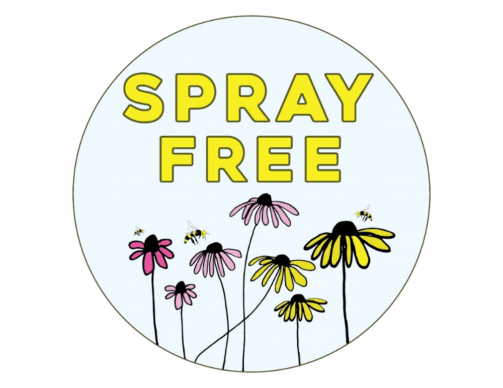 "Logo for ""Spray Free"" campaign designed for  Ezra's Enlightened Cafe"