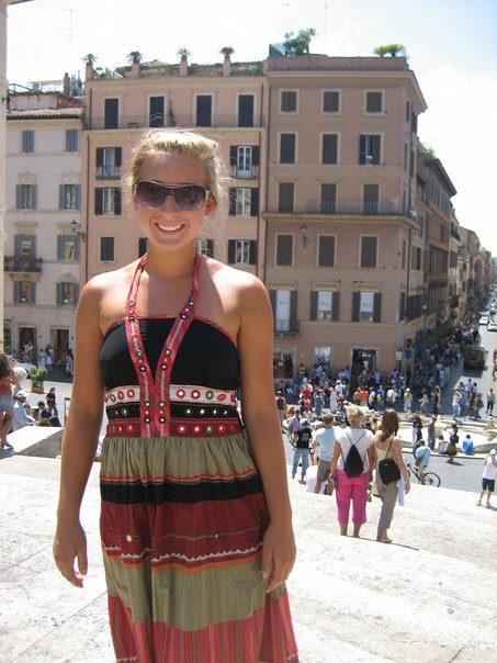 Summer 2006, Rome. Getting in touch with my artistic self again and deciding on the trip that I was transferring to KU. Trust me, these sunglasses were 'cool' at the time.