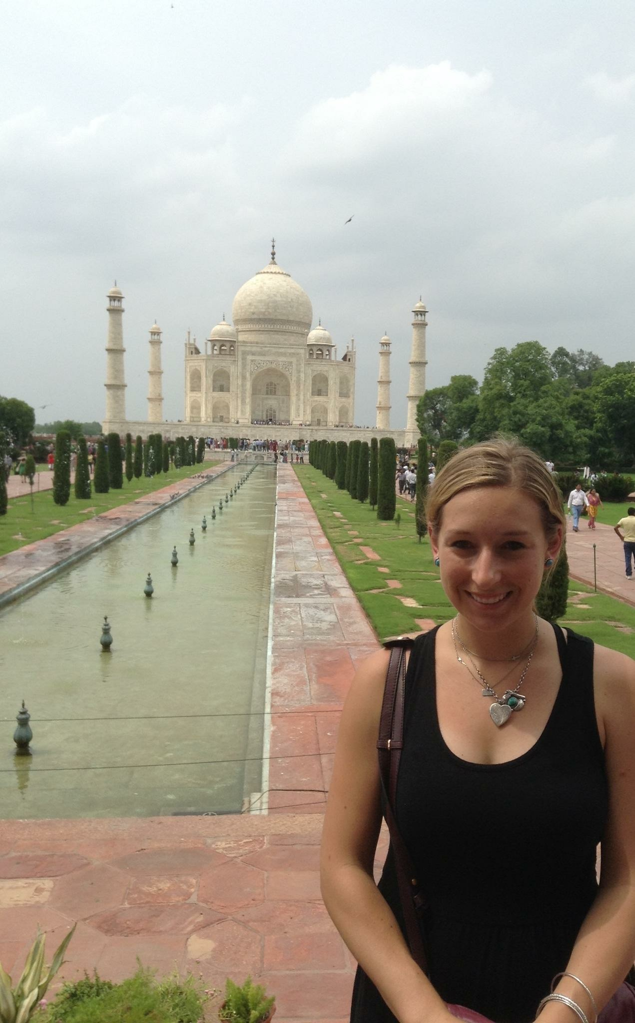 Sweating my ass off at the Taj Mahal in India. 2014