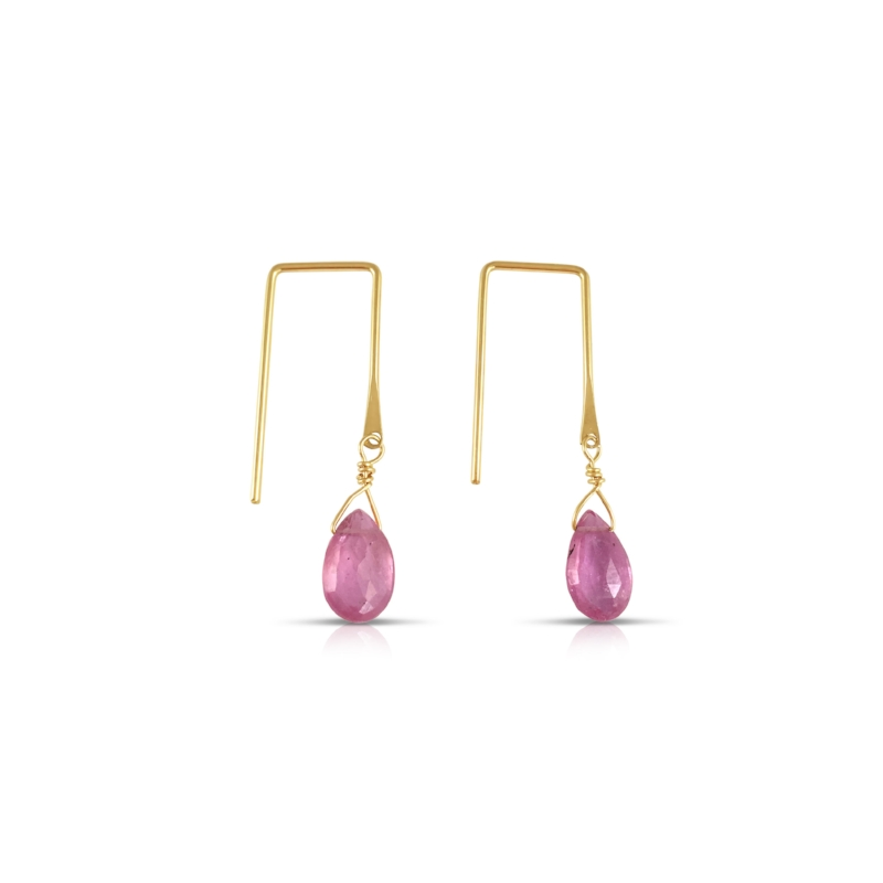 Sunset Earring in Pink Sapphire