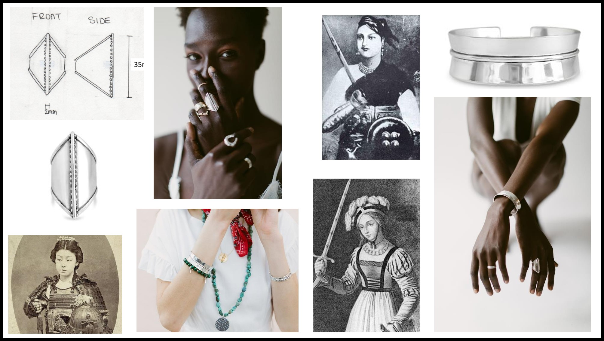 Original inspiration for  Warrior  Pieces, Read more about these  HERE