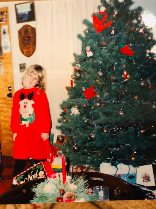 Festive AF at Christmas 1994 in Salina, Kansas.