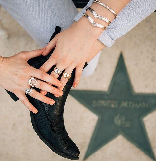Layer up!  We love layering rings and bracelets. Especially the Phoenix Bracelet! ⠀⠀⠀⠀⠀⠀⠀⠀⠀ #sierrawinterjewelry #sterlingsilver #gold #lovegold #jewelrygram #showmeyourjewels #jewelrydesigner #jewelry #jewelrydesign #buycoolshit
