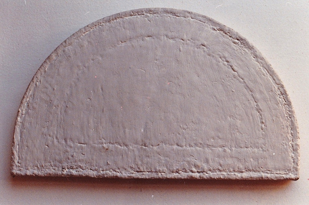 """""""Untitled"""", 7"""" x 12"""" x 1.5"""", Acrylic on Wooden Panel, 1980"""