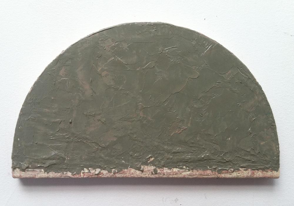 "Grey Arch, Oil / Linen, 7x 12 x 1/2"", 2012"