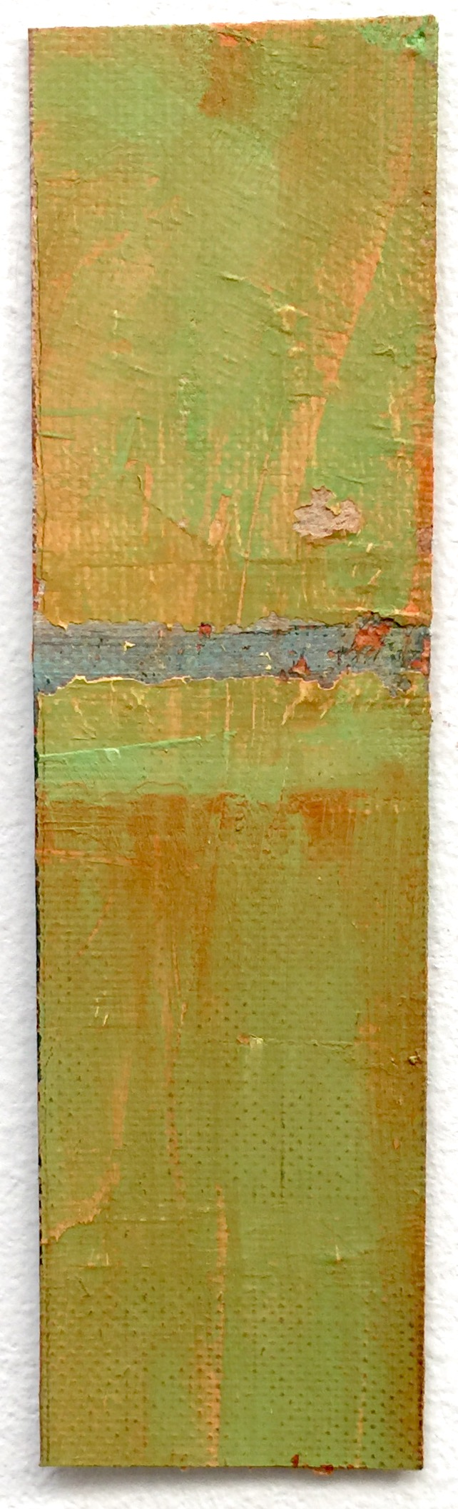 "Ochre Study , 2015, oil on paper, 6.25"" x 1.75"""