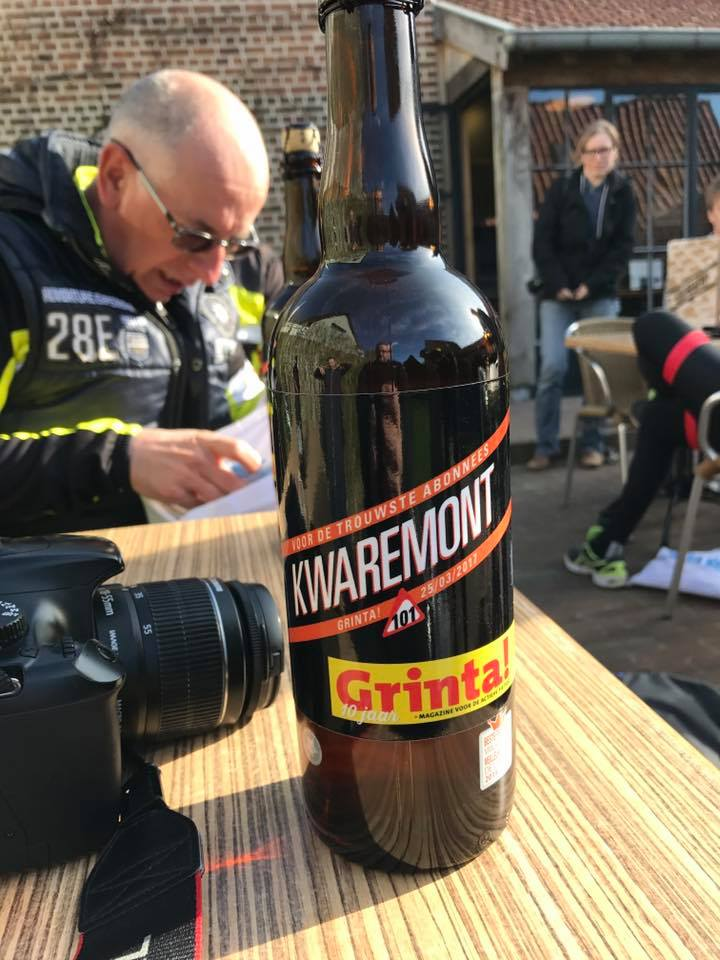 And here is the  GRINTA!  special brew to commentate a special day! We gleefully toasted a great race on the eve of the Belgian fan favorite with this limited edition taste of Flanders.