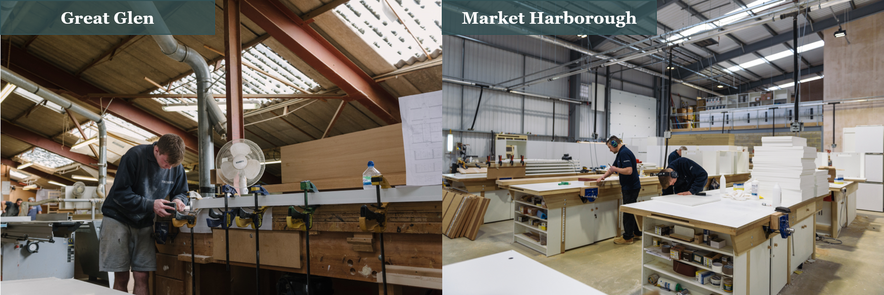 Thorpes Joinery - Joiners Benches: Great Glen Vs Market Harborough