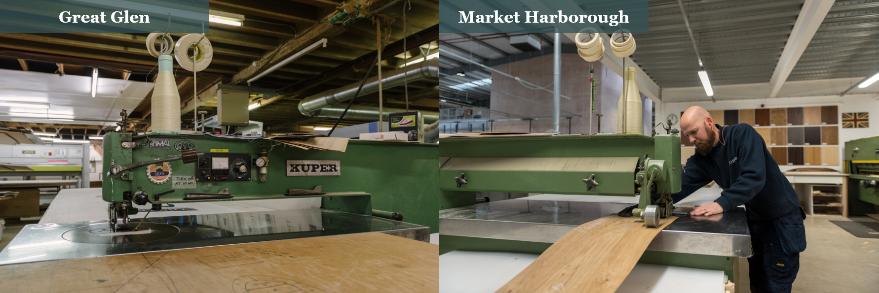 Thorpes Joinery - Veneer department: Great Glen Vs Market Harborough