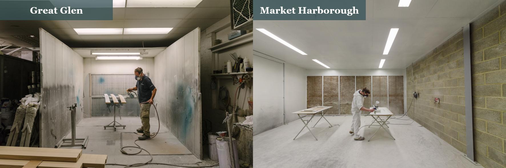 Thorpes Joinery Spray Shop - Market Harborough vs Great Glen