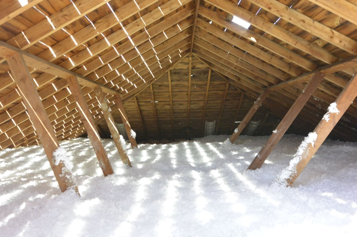 Another money saving blown in insulation project in Spring TX by Avalanche Roofing Contractors of Spring TX