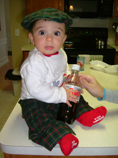 Timothy with his Great Papou hat