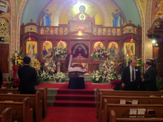 Theodore Pete Thevaos' funeral at Holy Trinity Greek Orthodox Church, Charlotte, North Carolina