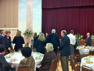 Reception in the fellowship hall