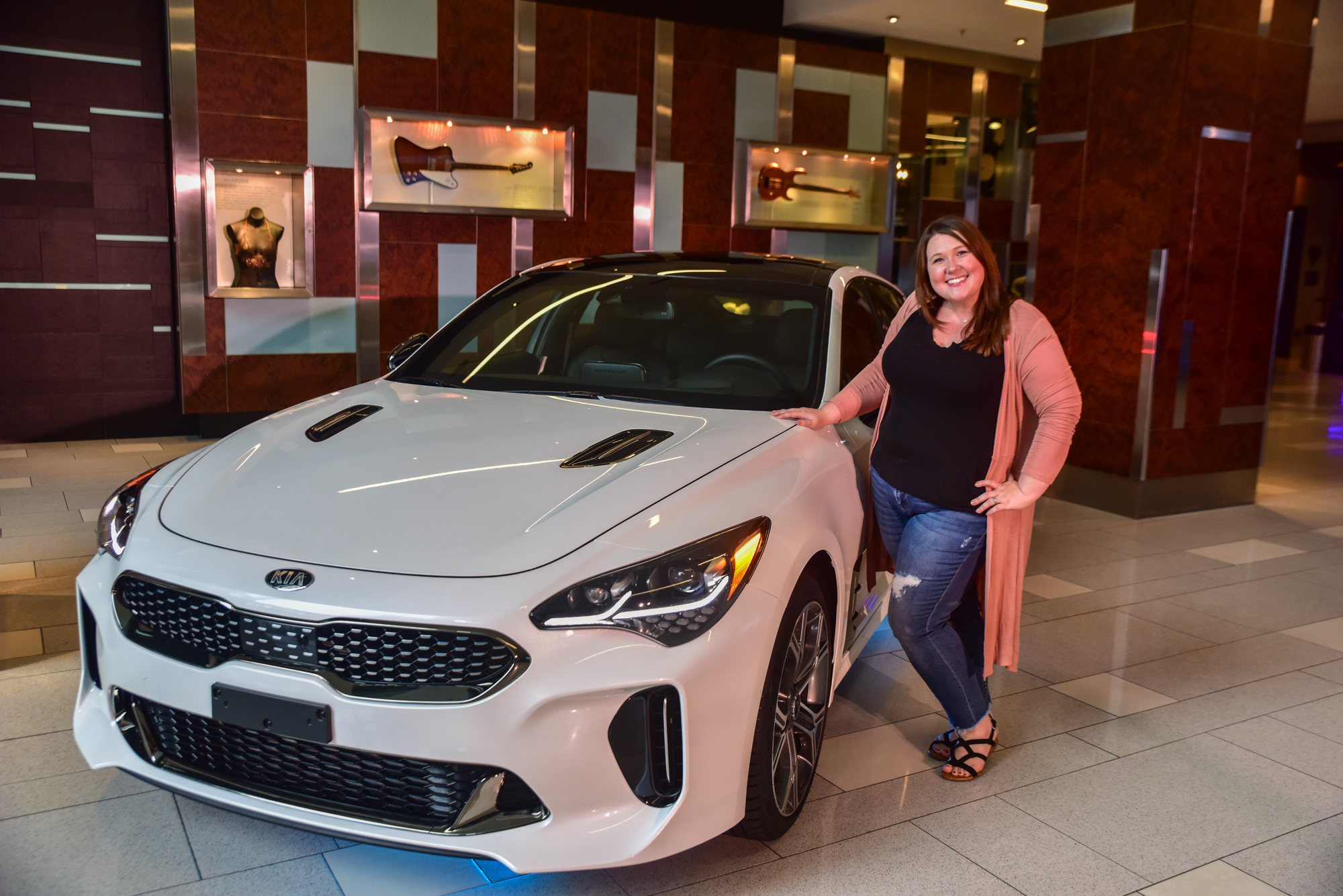 Cielo Roth Photography. Alice Chase with the new Kia Stinger.