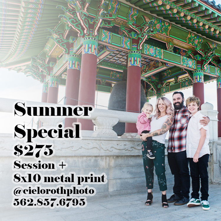 Summer Special now through August 1, 2018