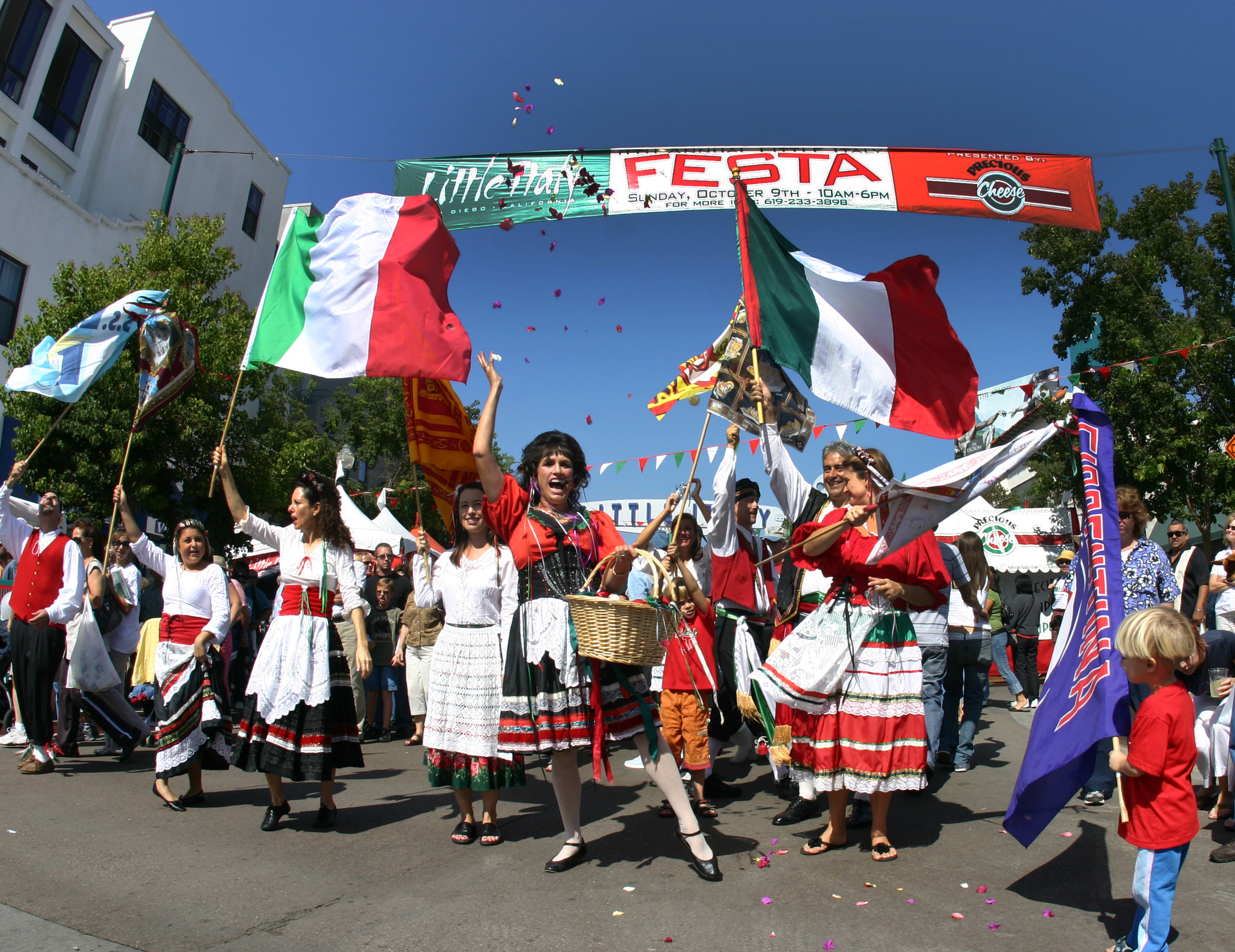 Italian Festival, Little Italy flag procession.jpg