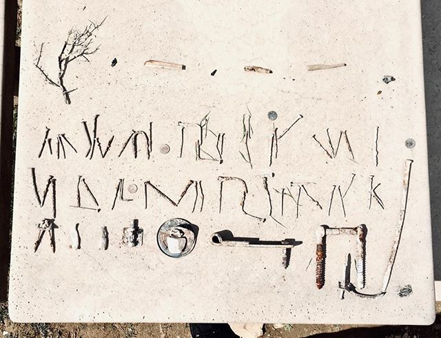 Is this an alien alphabet?  I'll give you a hint: Its from our campsite in Fruita...