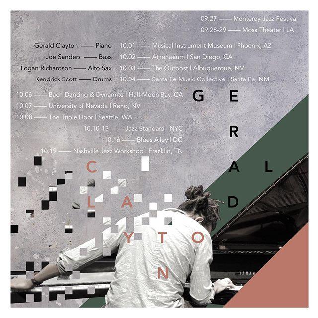 GC Quartet US Tour❗️ 9/27- 10/19  feat. 👑@brainchildworld 👑@joesandersbass 👑@kadscott 🙏🏽✌🏽