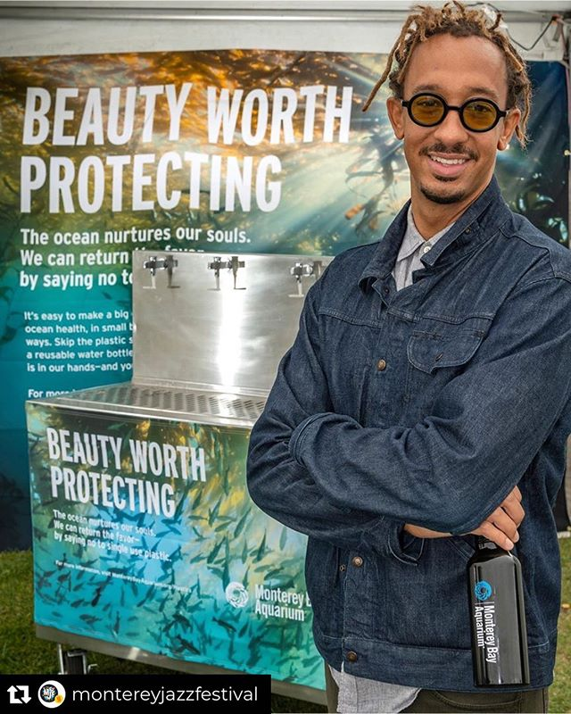 Thank you @montereybayaquarium for all the amazing work you do ✊🏽 #repost  Thank you  @geraldclayton for your outstanding music and for spreading the word about the single use plastic problem. Water bottle refill stations sponsored by the @montereybayaquarium are throughout  the fairgrounds for easy access! #reuse #singleuseplasticsucks #montereyjazz @montereyjazzfestival #mjf62  #montereybayaquarium