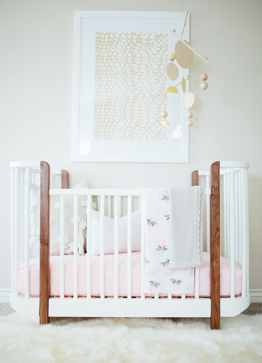 Baby Girl Nursery Crib - Akin Design Studio
